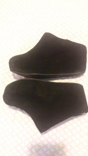 Sybilla zapatos de gamuza negros talle 36