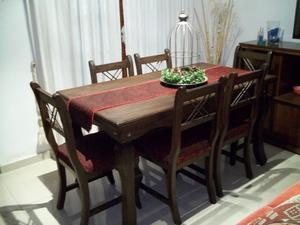 Juego de comedor 6 sillas !! Flete gratis en Córdoba !! ♥