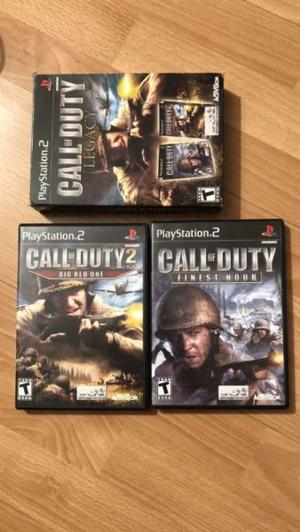 Juegos PS2 Call of Duty Finest Hours, 2 Big Red One y Legacy
