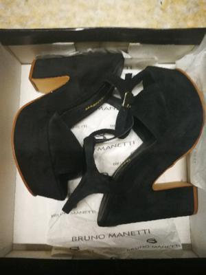 Sandalias de gamuza negras!