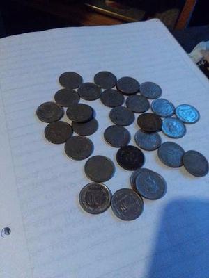 Vendo monedas de Nikel desde  Argentinas en buen
