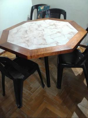 vendo mesa con o sin sillas