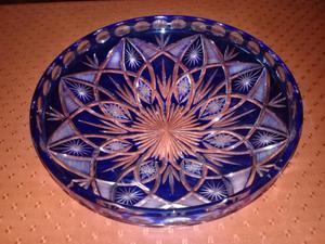 Centro de mesa frutera en cristal