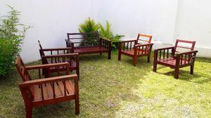Juego de 5 sillones, madera QUINA!