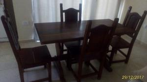 Juego de Mesa y sillas de Algarrobo