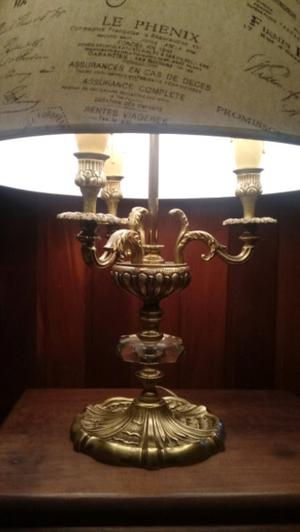 Lampara de mesa en bronce