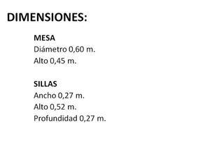 MESITA Y 2 SILLAS INFANTILES DE CARS