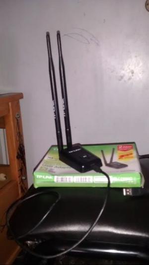 Placa De Red Usb Wifi Tplink Tlwnnd Con 2 Antenas 8dbi