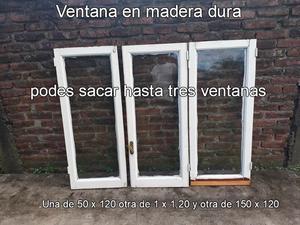 ventana de madera rigida