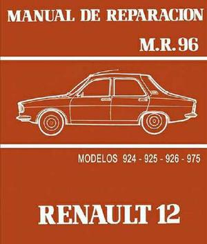 Manual De Taller, Despiece Y De Usuario Renault 12