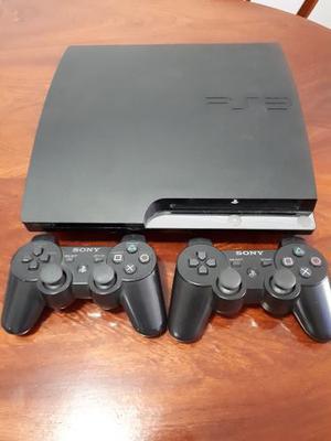 Ps3 - Playstation 3 - Flasheada Impecable Con 2 Controles.
