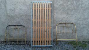 Vendo cama antigua de hierro 1 Plaza