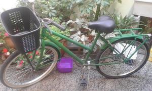 bicicleta rodado 26 de paseo con canasto y porta equipaje en