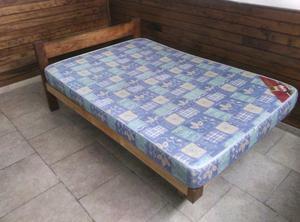 Cama 2 plazas de 1,30 con colchón