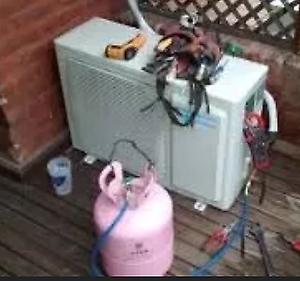 Carga de gas refrigerante R22 o R410