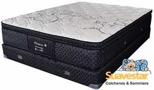 Colchon Y Sommier Suavestar Perseus Silk 2 Plazas 190 X 140