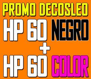Cartuchos Hp 60 Negro Hp 60 Color Xl Colorjet Vertec Scp