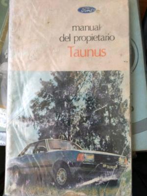 Manual de Ford Taunus ' original de usuario