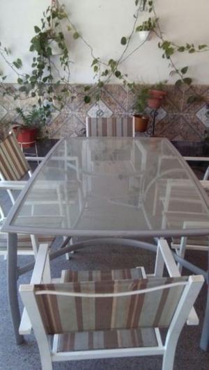juego de aluminio resistente al aguay sol y vidrio templado