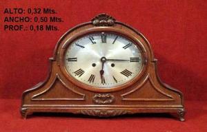 Antiguo Reloj Alemán Chimenea, De Mesa, Keinzle