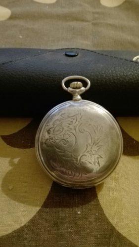 Longines, Antiguo Reloj De Bolsillo De Plata