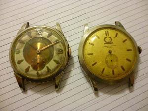Lote De 2 Relojes Irta De Luxe 17 Rubis +1 C/laureles Raro