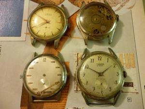 Lote De 4 Relojes A Cuerda Lewa, Sorina, Etc A Revisar Swiss