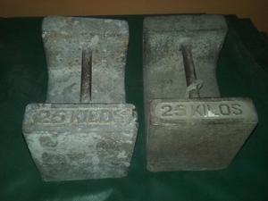 Mancuernas pesas de 25 kilos c/u