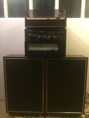 Tocadiscos audinac, amplificador, Radio SANSUI japonés y