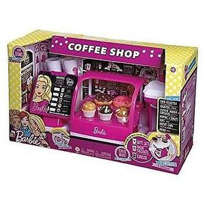 COFFEE SHOP BARBIE CON VITRINA Y MAQUINA DE CAFE TIENDA DE