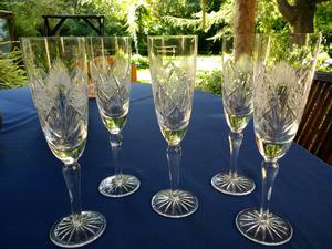 Copas de cristal de champagne