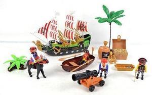 Set De Pirata Con Barco A Pila
