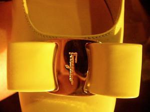 Zapatos Salvatore Ferragamo 37.5 B 37 Cuero Verde Agua Bajos