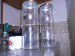 par de frascos de cocina grandes