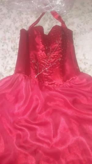 Liquido bello vestido de 15 precioso talle m