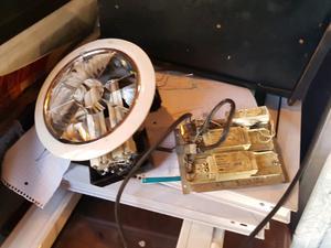 Plafon de embutir para 2 luces con transformador y cable