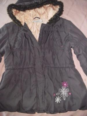 Campera de abrigo con capucha de niña talle