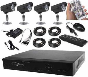 Kit 4 Camaras Seguridad Ahd Cctv Dvr Hdmi - Alta Resolucion