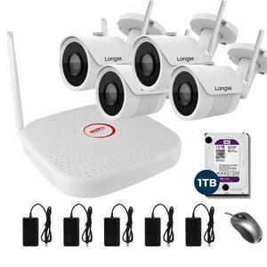 Kit Camaras Seguridad Inalambricas Camara Ip Wifi Disco 1 Tb