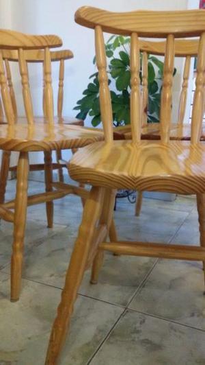Juego 4 sillas windsor boston excelentes madera brasilera
