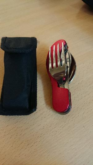 Juego de cubierto para camping pesca tenedor cuchillo