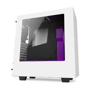 Gabinete Gamer Nzxt S340 Blanco Purpura Usb 3.0 Fan 120 X 2