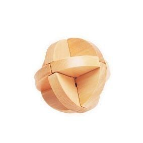 Juego De Ingenio Esfera Cruz Puzzle De Madera 7cm 2 Modelos