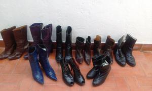 Lote de 9 pares de botas