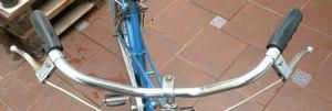 Manubrio De Bicicleta Antigua Con Manijas De Freno Y Puños