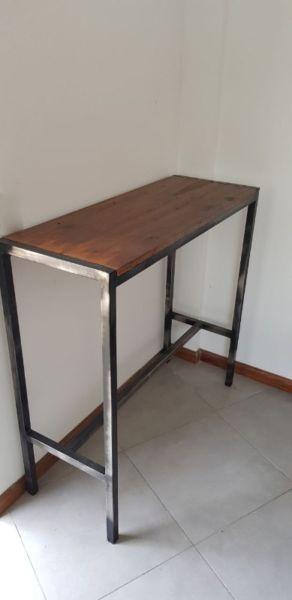 Mesa alta para bar o barra rustica