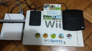 Nintendo Wii Sports Flasheada+ 40 Juegos, Excelente Estado!