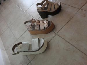 Sandalias número 36 dos usos