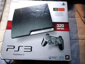 Vendo play 3 de 320gb +joysticks+move+ juegos