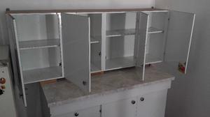 Alacena y mueble bajo. 4 cajones y estantes